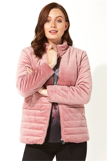 Velour Texture Quilted Jacket