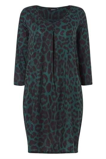 Animal Leopard Print Slouch Dress