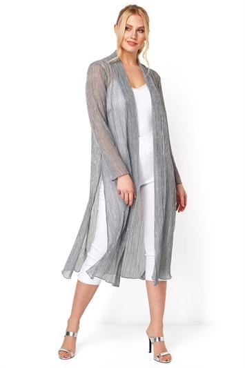 Plisse Metallic Kimono