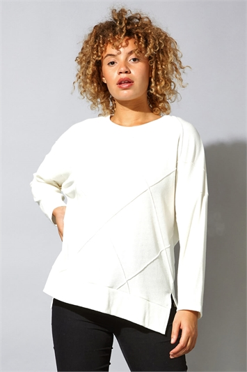 Check Detail Long Sleeve Lounge Top