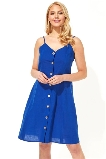 Button Through Cami Shift Dress