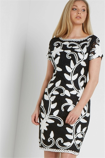 Contrast Tapework Dress