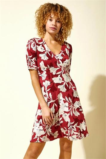 Lily Print Tea Dress