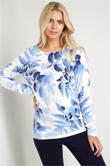 Diamante Embellished Floral Jumper