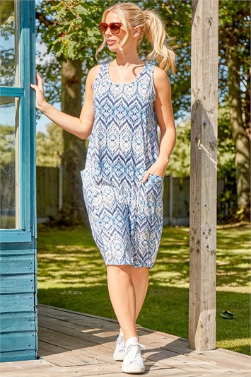 Geo Print Slouch Dress