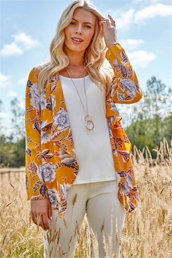 Floral Cover Up Set and Necklace