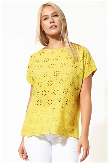 Broderie and Sequin Top