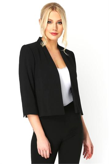 Black 3/4 Sleeve Rochette Jacket