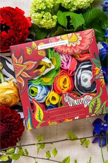 Wine Heathcote & Ivory Wild Wonder & Joy Soap Flowers , Image 1 of 5