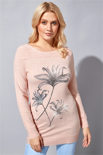 Floral Embellished Jumper