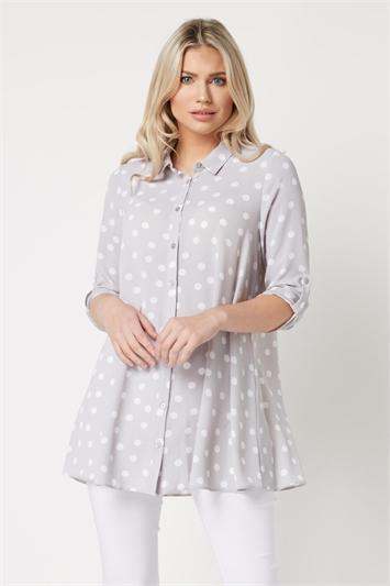 Polka Dot Tunic Shirt