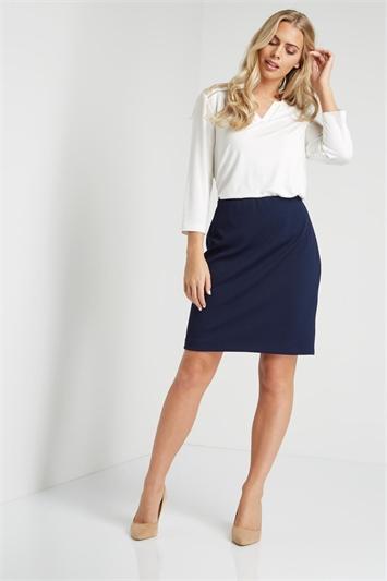 Short Textured Skirt