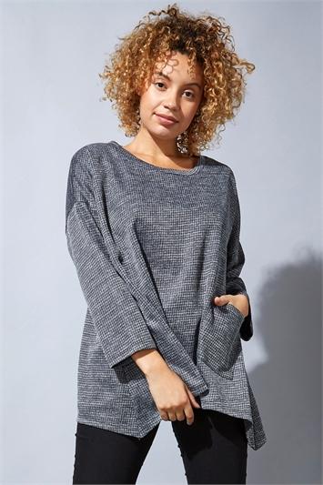 Long Sleeve Textured Jersey Top