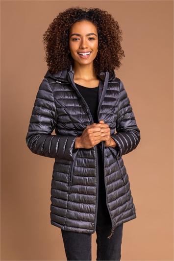 Ash Longline Zip-Through Padded Coat