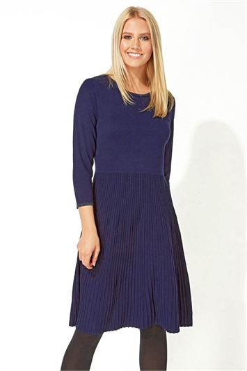 Fit and Flare Knitted Dress