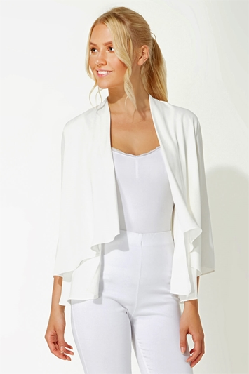 Chiffon Waterfall Front Jacket