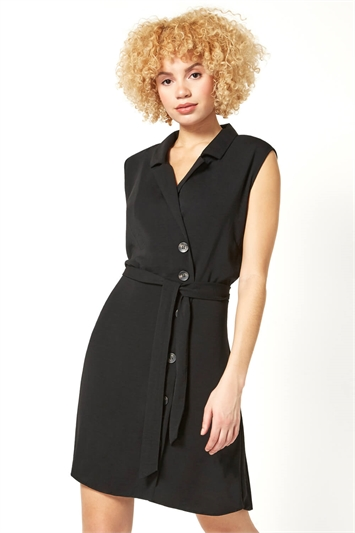 Side Button Wrap Dress