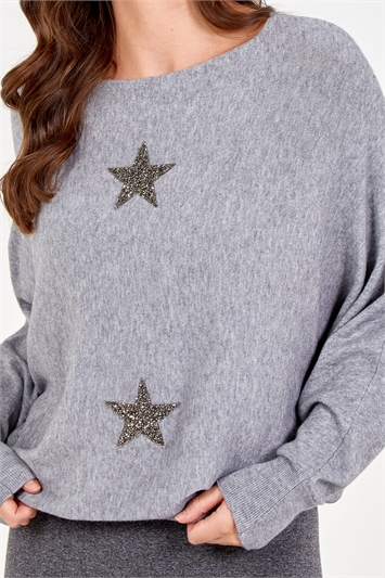 Knitted Star Lounge Jumper