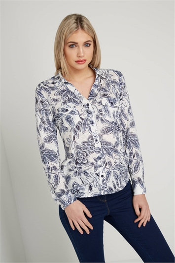 Floral Jersey Burnout Shirt