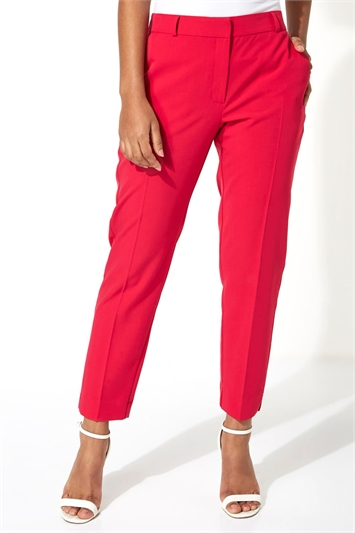 Straight Leg Tapered Trousers