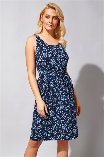 Ditsy Floral Elasticated Dress