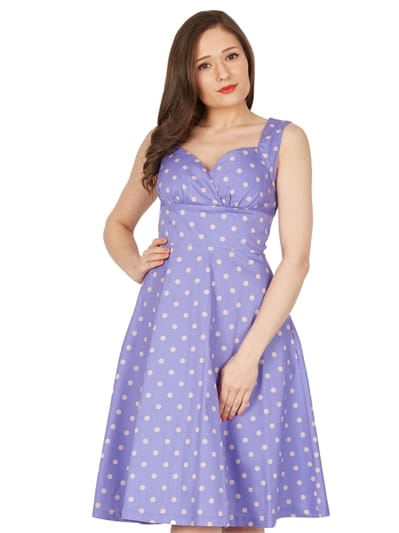 Layla Polka Swing Dress