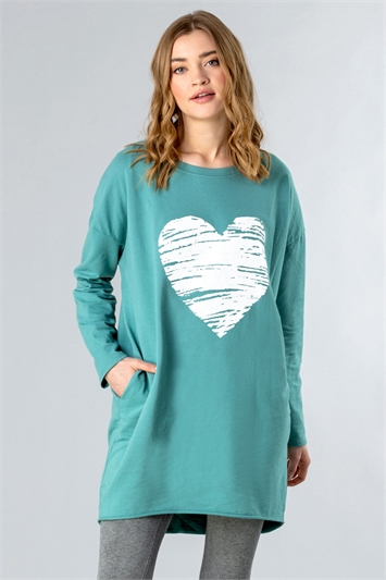 Foil Heart Pocket Lounge Top