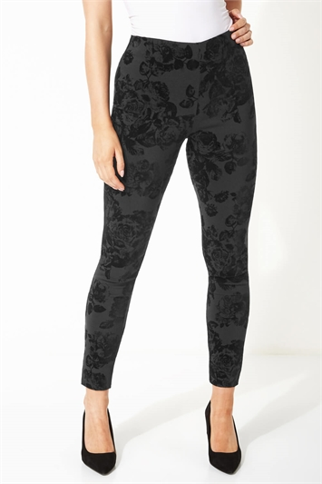 Flocked Full Length Stretch Trousers