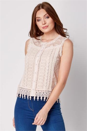 Cotton Lace Trim Blouse