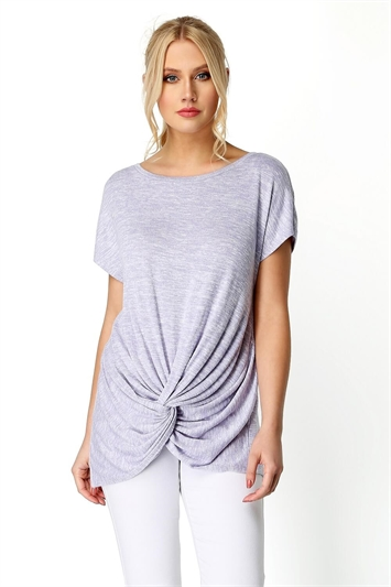 Knot Front Short Sleeve Top