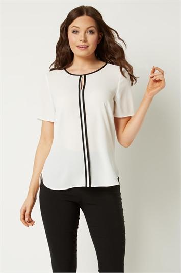 Contrast Short Sleeve Top