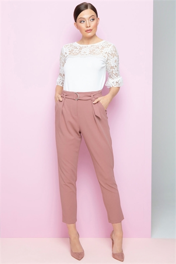 Belted Tailored Trousers