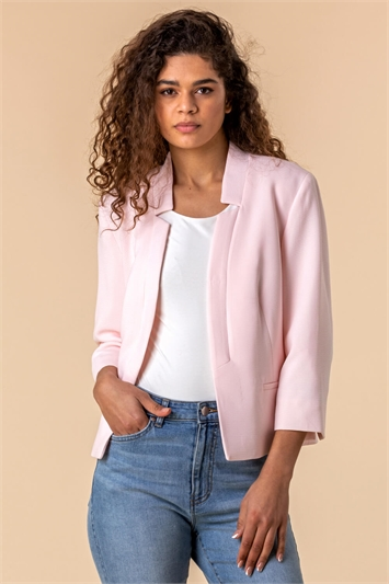 Textured Notch Neck Jacket