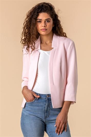 Textured Notch Neck Jacket