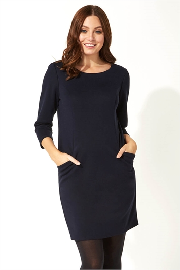 Relaxed Pocket Shift Dress