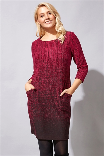 Ombre Textured Shift Dress