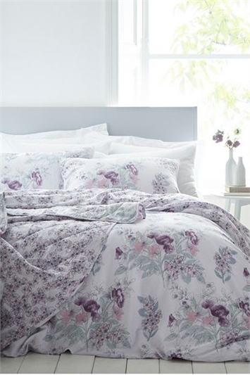 Double Floral Print Duvet Cover Set