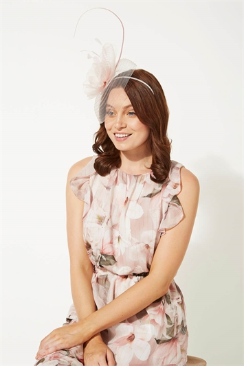 Large Quill and Dome Flower Fascinator