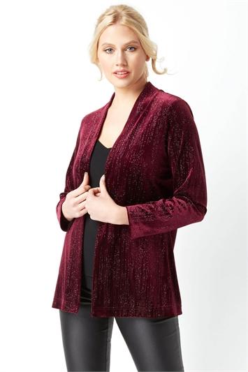 Long Sleeve Velour Jacket