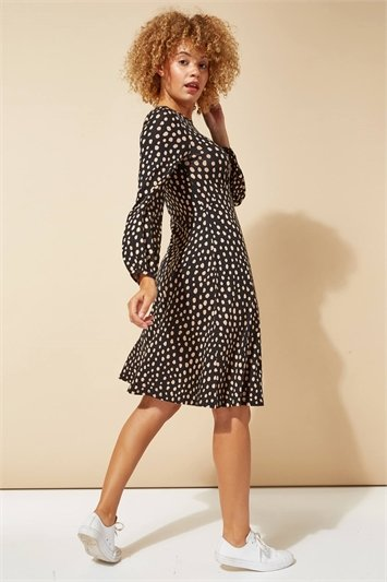 Pebble Spot Print Tea Dress