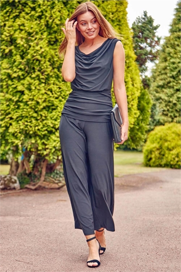 Cowl Neck Bardot Jumpsuit