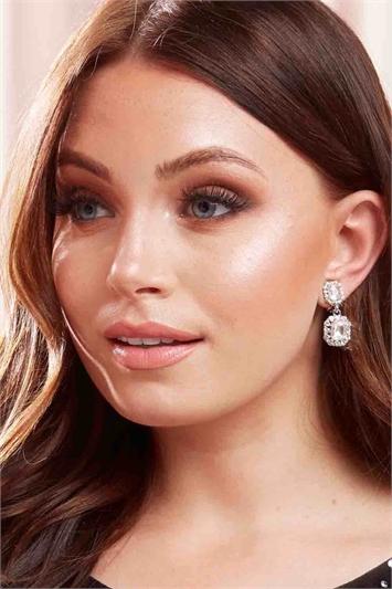 Silver Clip On Drop Earrings, Image 1 of 4