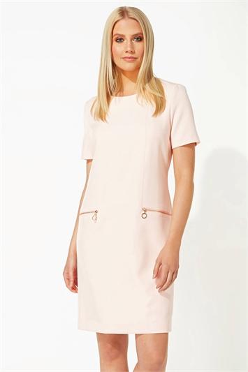 Zip Pocket Shift Dress