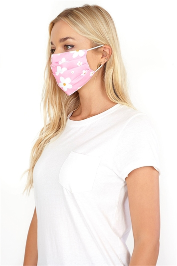 Flower Print Fast Drying Fashion Face Mask