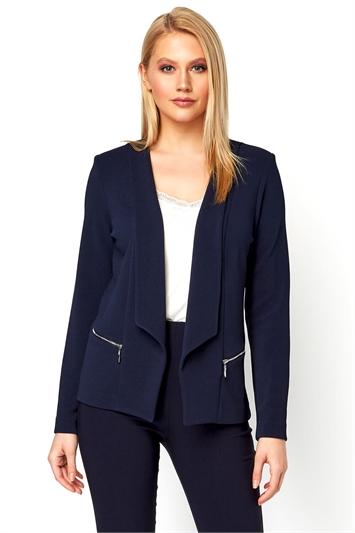 Textured Zip Detail Jacket