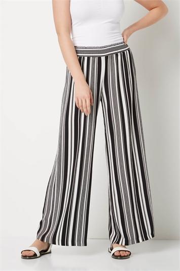 Stripe Wide Leg Trouser