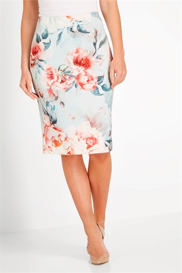Rose Blooms Scuba Skirt