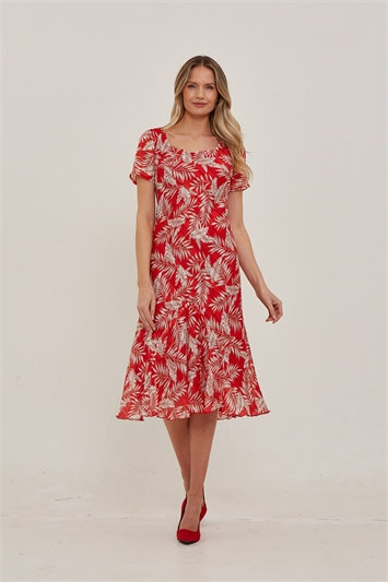 Julianna Floral Print Chiffon Dress