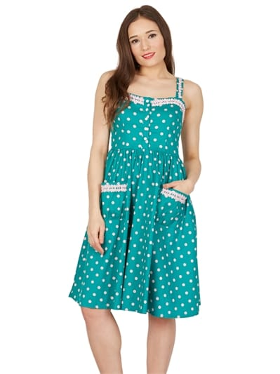 Corinna Polka Swing Dress