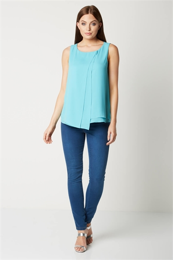 Double Layer Wrap Top